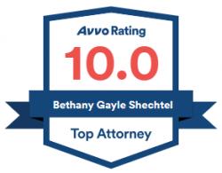Bethany Shechtel 10.0 Avvo Rating